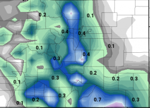 GFS QPF (how much liquid precipitation to expect)