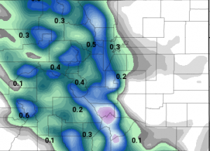 Nam QPF (how much liquid precipitation to expect)
