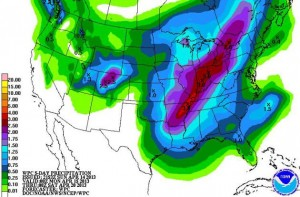 QPF forecast from April 2013