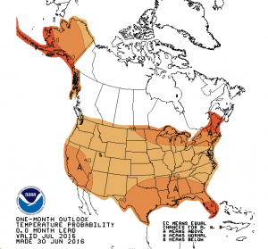 Climate Prediction Center July 2016 Temperature Outlook