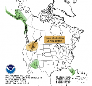 Climate Prediction Center July 2016 Precipitation Outlook