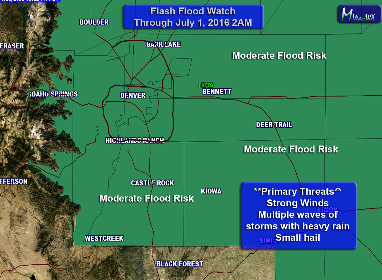 Current Flash Flood Watch Area