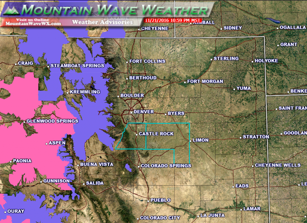 Winter Weather Warnings and Advisories are in effect for the mountains...