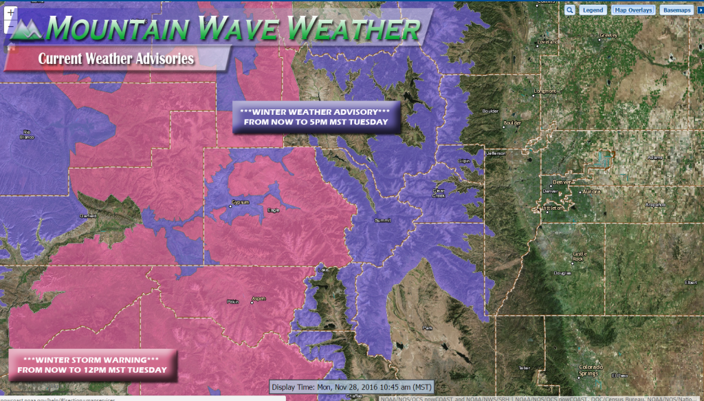 Colorado Weather Watches/Warnings/Advisories