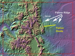 Topography of Colorado - Palmer Divide