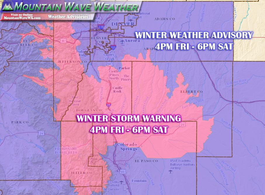 Castle Rock Co, Snowstorm, Winter Storm Warning