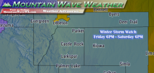 Castle Rock Co Weather, Palmer Divide Weather Watch, Winter Storm Watch