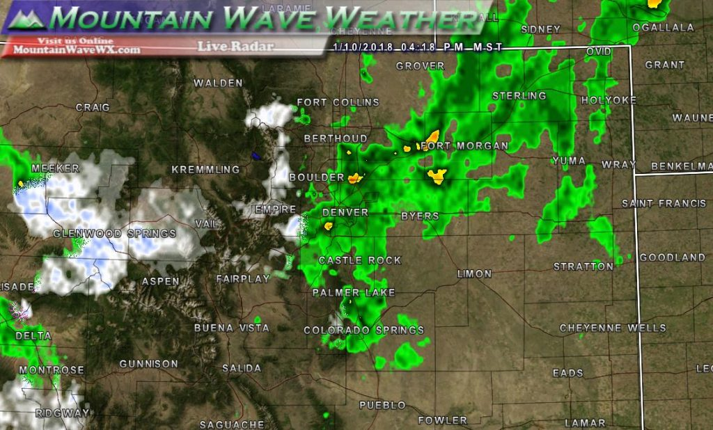 Colorado Weather Radar | Snow | Rain | Live Radar | January 10, 2018