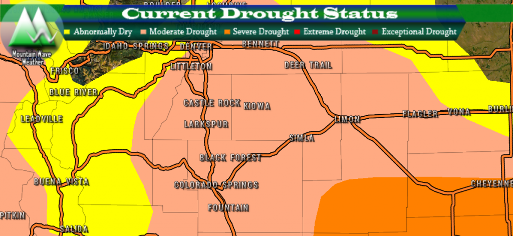 Colorado Drought Status | March 2018 | Moderate Drought | Severe Drought