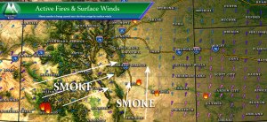 Fire danger | Castle Rock Smoke | Castle Rock Fires | Colorado Fires | Palmer Divide Weather