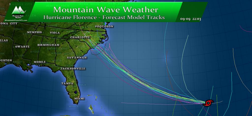 Hurricane Florence Update | Spaghetti Models