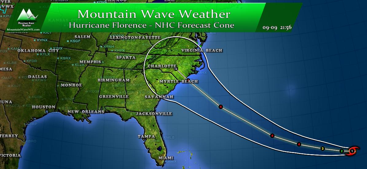 Hurricane Florence Update | NHC Forecast Cone